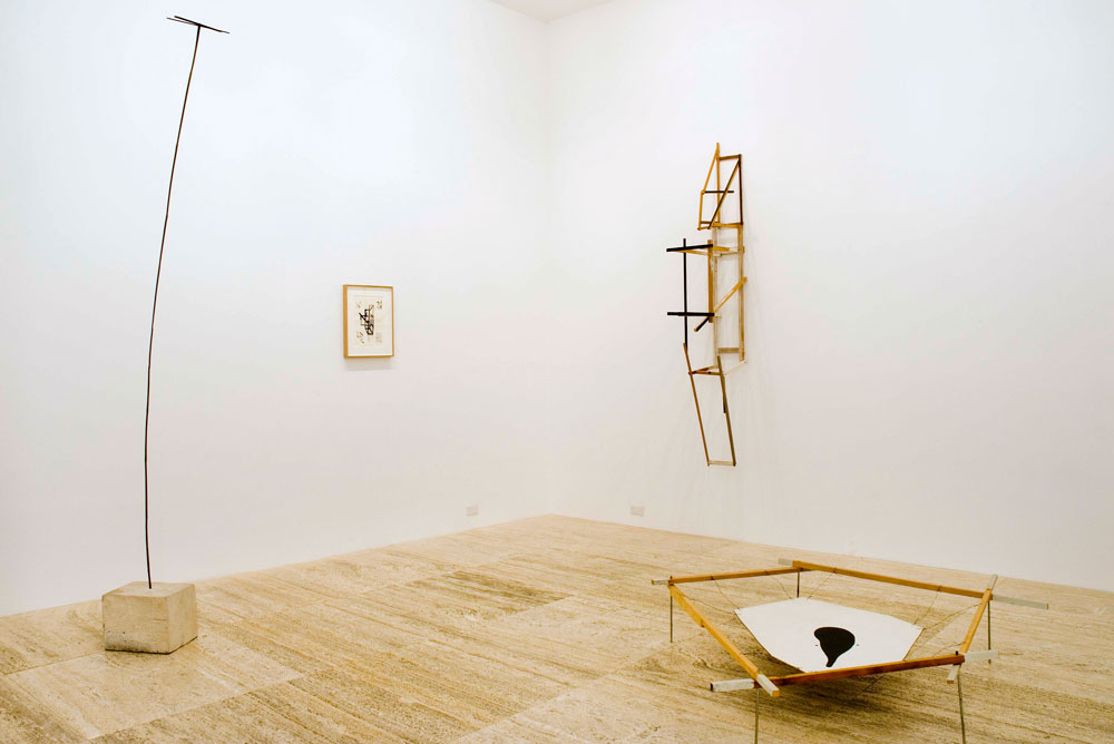 Installation view of the exhibition Al Taylor: Early Work at Zwirner & Wirth at 32 East 69th Street in New York, dated 2008.