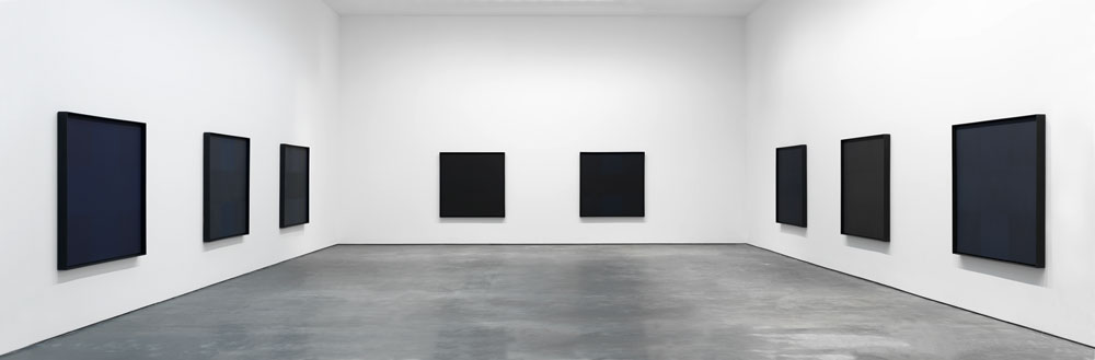 Installation view of the exhibition Ad Reinhardt at 537 West 20th Street in New York, dated 2013.