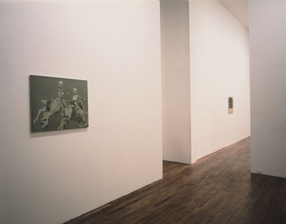 Installation view of the exhibition Luc Tuymans: Superstition at 43 Greene Street in New York, dated 1994