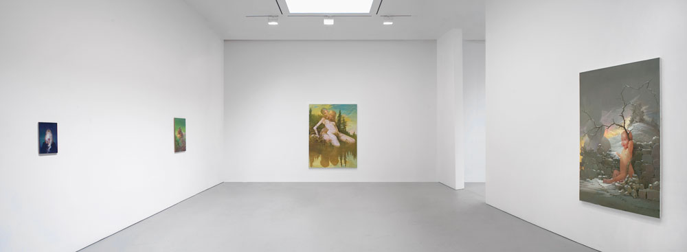 Installation view of the exhibition Lisa Yuskavage at 533 West 19th Street in New York, dated 2009.