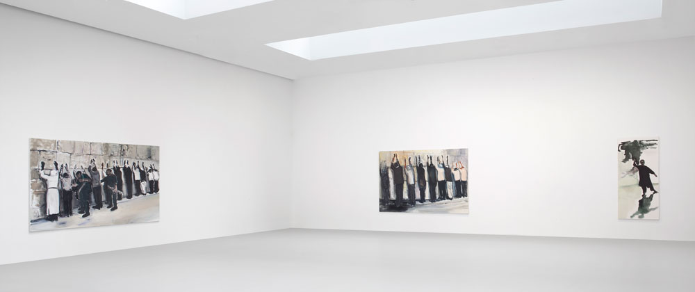 Installation view of the exhibition Marlene Dumas: Against the Wall at 533 West 19th Street in New York, dated 2010.