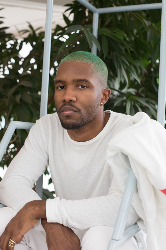 A photograph by Wolfgang Tillmans, titled Frank Ocean, dated 2015.