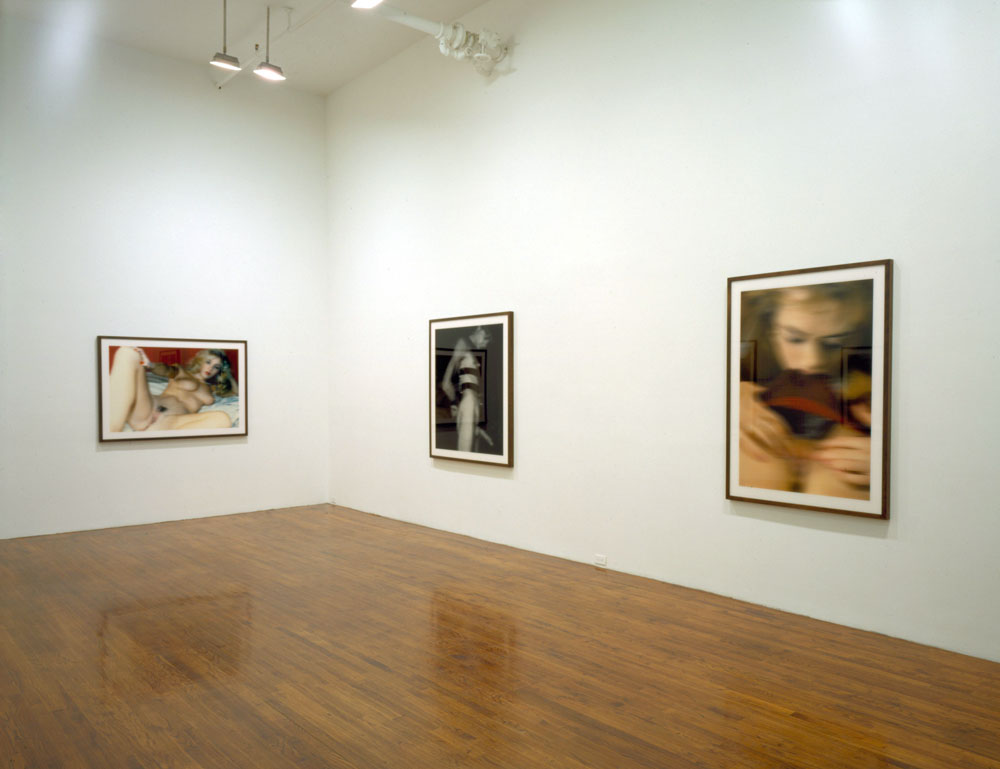 Installation view of the exhibition Thomas Ruff: Nudes at 43 Greene Street in New York, dated 2000.