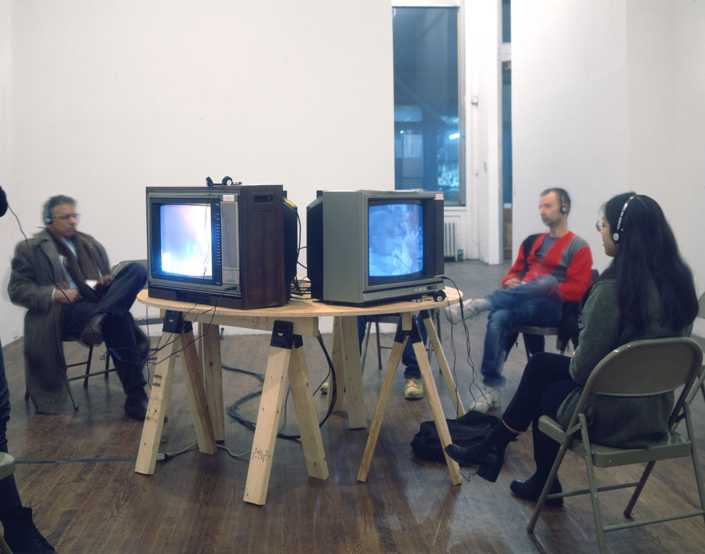 Installation view of the exhibition SAMPLER – Southern California Video Collection 1970 to 1993 at 43 Greene Street in New York, dated 1993.