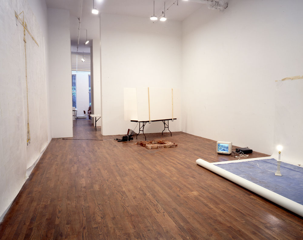 Installation view of the exhibition Rachel Khedoori and Toba Khedoori at 43 Greene Street in New York, dated 1994.