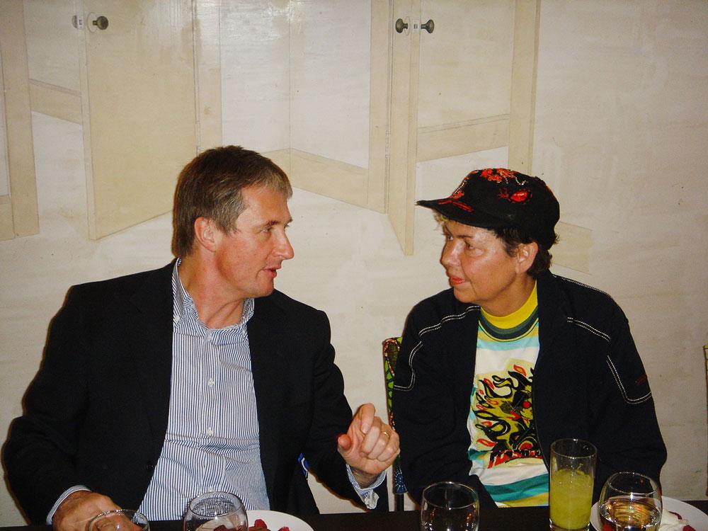 David Zwirner with Isa Genzken, circa 2000.