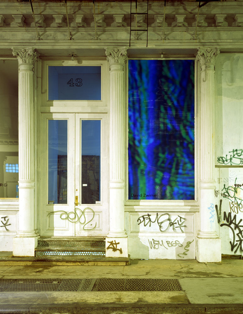 Internal Exterior view of 43 Greene Street in New York, during the exhibition Diana Thater: Late & Soon (Occident Trotting), dated 1993.