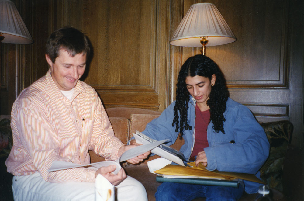 David Zwirner with Toba Khedoori, circa 1993.