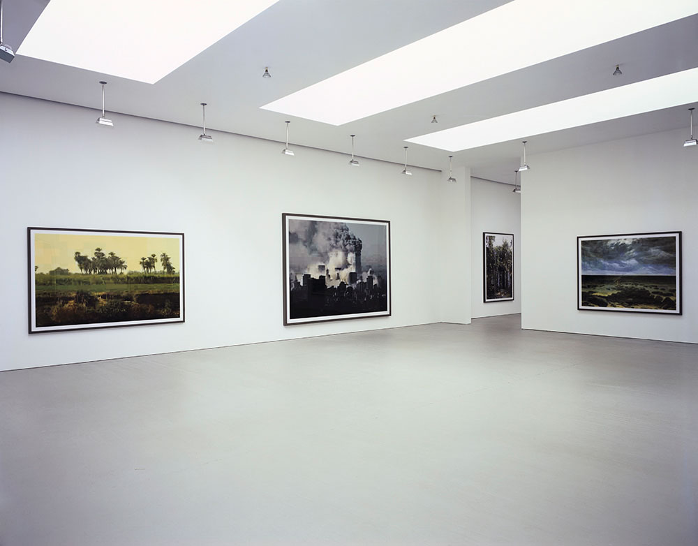 Installation view the exhibition Thomas Ruff: New Work at 525 West 19th Street in New York, dated 2005.