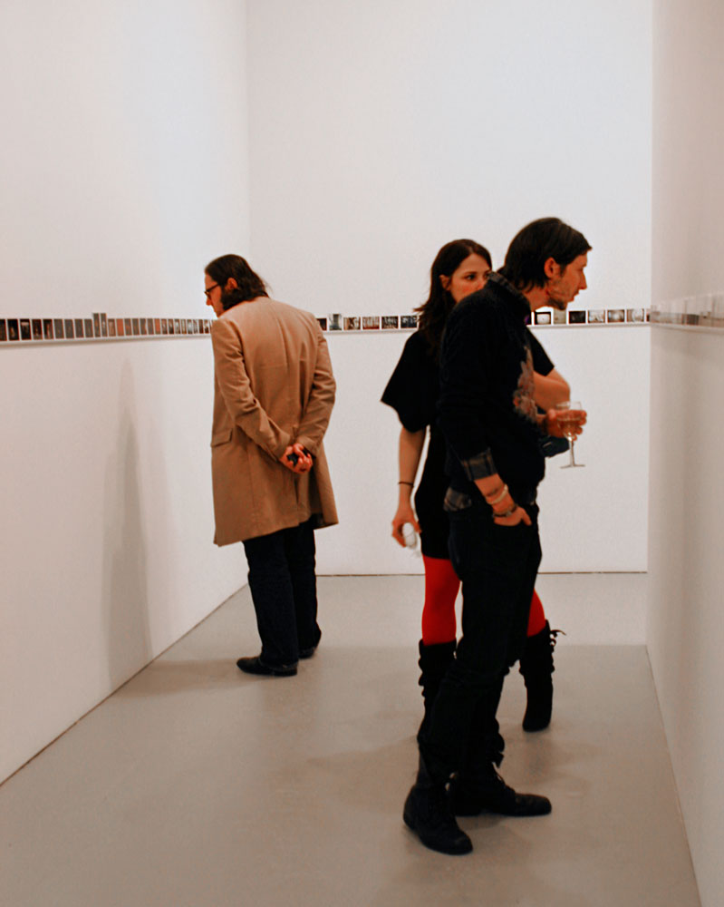 Visitors at the opening of the exhibition Philip-Lorca diCorcia: Thousand at 525 West 19th Street in New York, dated 2009.