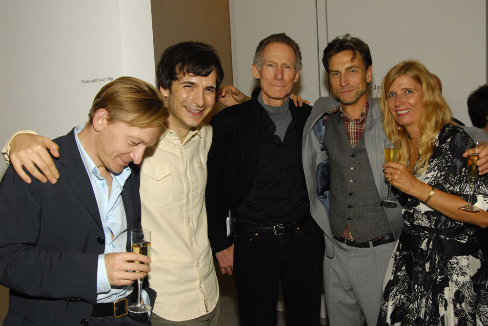 A photograph of Michaël Borremans, Marcel Dzama, John McCracken, Jockum Nordström, and Mamma Andersson, dated 2006.