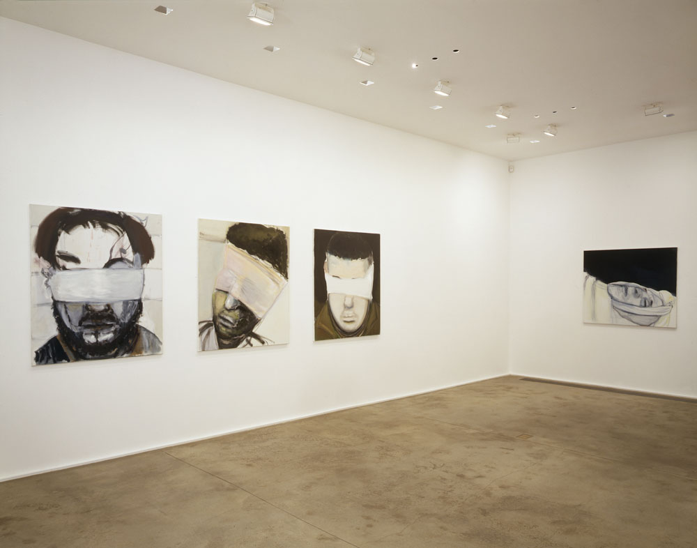 Installation view of the exhibition Marlene Dumas: Selected Works at Zwirner & Wirth at 32 East 69th Street in New York, dated 2005.