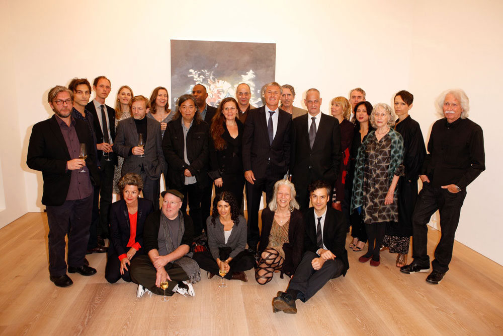 Gallery artists, estates, and staff at the opening of 24 Grafton Street in London, dated 2012.