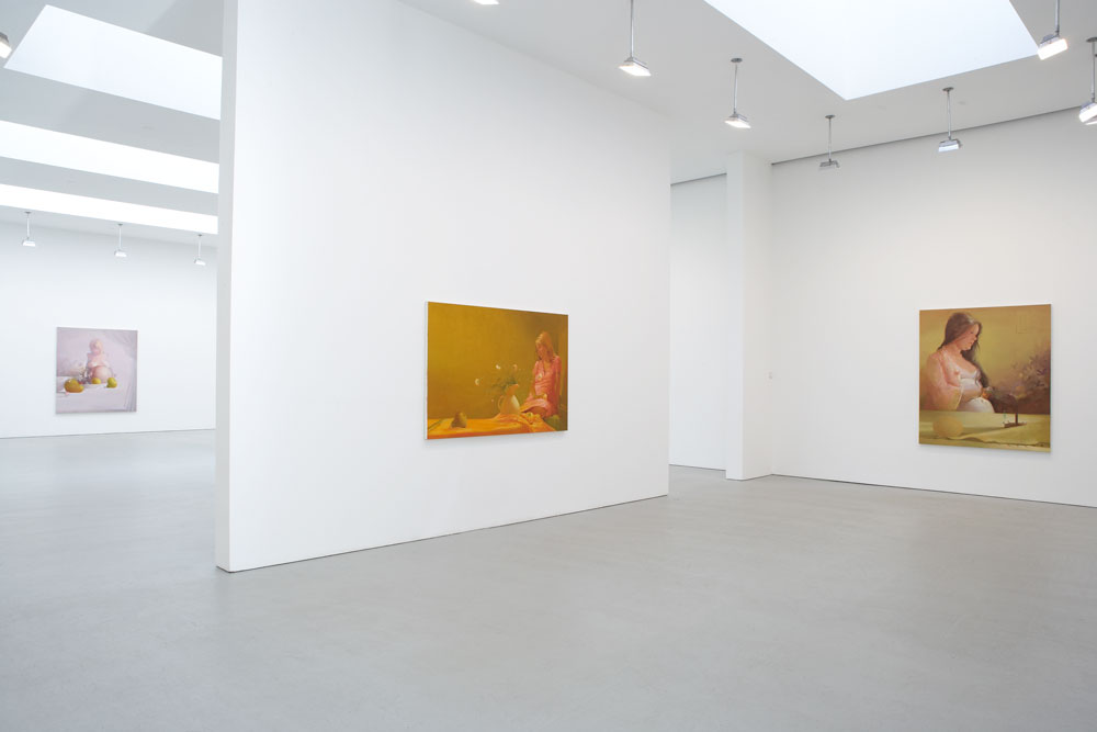 Installation view of Lisa Yuskavage: New Work at 525 West 19th Street in New York, dated 2006.