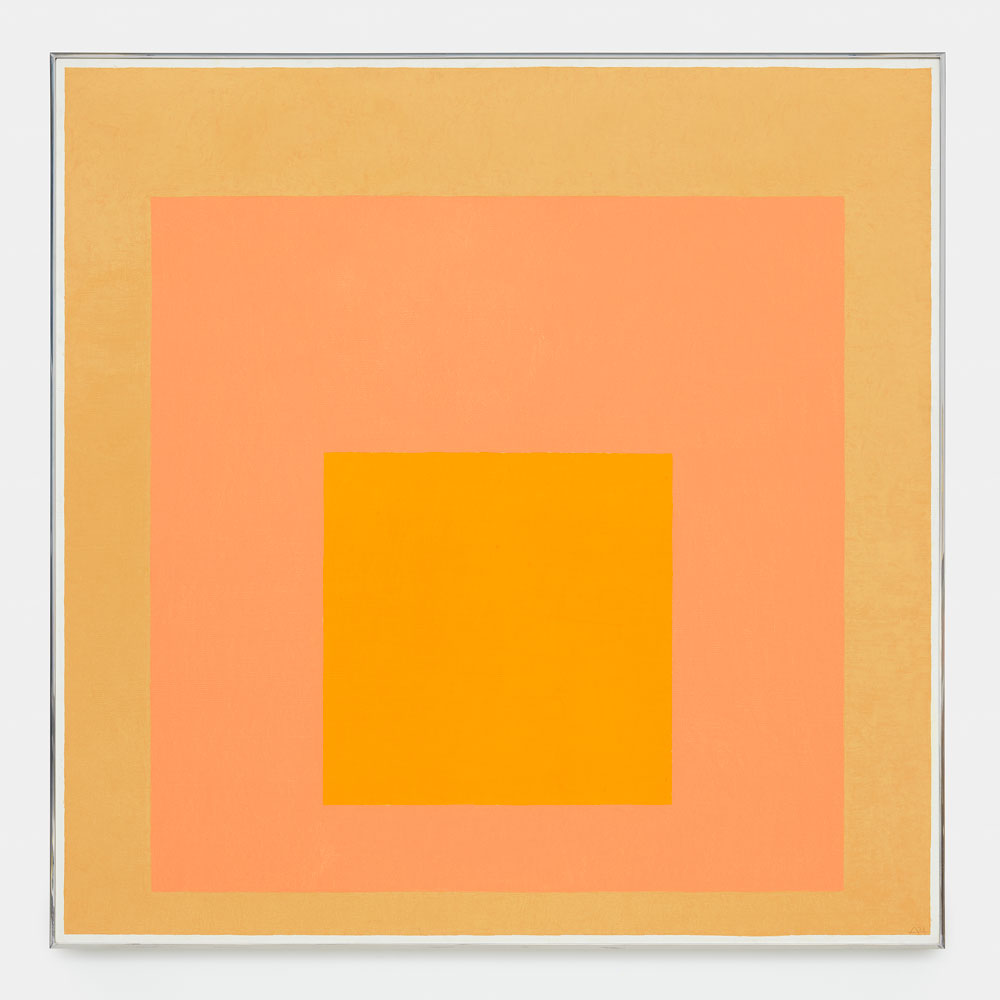 A painting by Josef Albers, titled Homage to the Square, dated 1971.