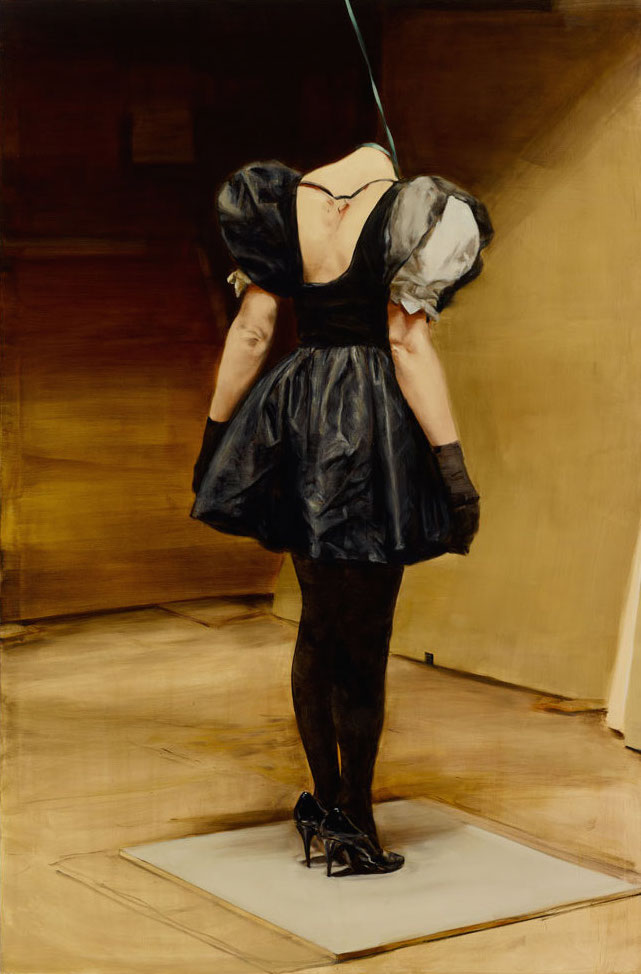 A painting by Michaël Borremans, titled The Loan, dated 2011.