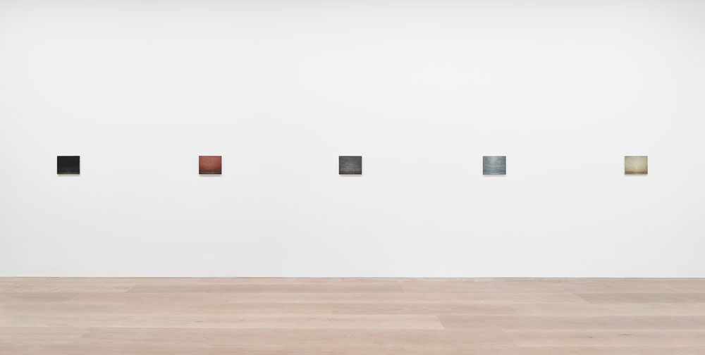 Installation view of the exhibition Lucas Arruda at 24 Grafton Street in London, dated 2017.