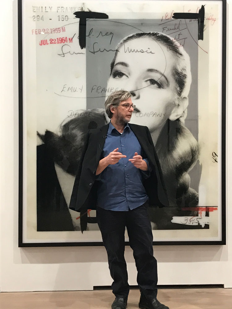 Thomas Ruff at the opening of his solo exhibition Thomas Ruff: New Works at 24 Grafton Street in London, dated 2016.