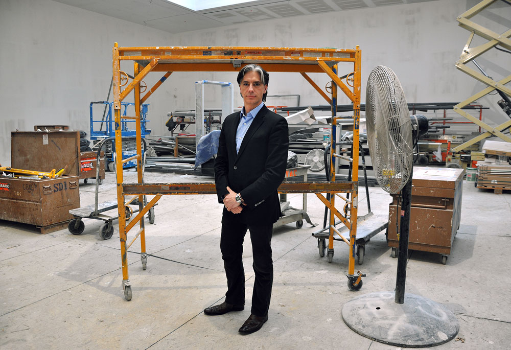Senior Partner Christopher D'Amelio, who joined the gallery in 2013, during construction of the 537 West 20th Street building, dated 2013.