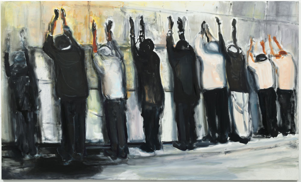 A painting by Marlene Dumas, titled Wall Weeping, dated 2009.