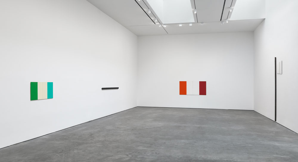 Installation view of the exhibition Palermo: Works 1973 to 1976 at 537 West 20th Street in New York, dated 2015.