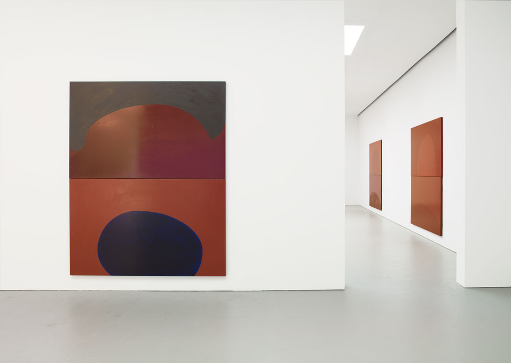 Installation view of the exhibition Suzan Frecon: recent painting at 525 West 19th Street in New York, dated 2010.
