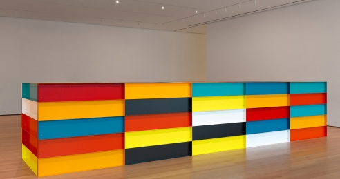 An untitled sculpture by Donald Judd, dated 1991.