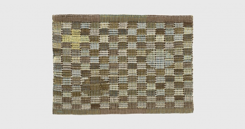 A textile work by Anni Albers, titled In Orbit, dated 1957.