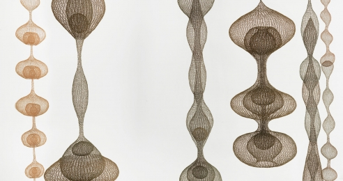 An installation view of the exhibition, Ruth Asawa: Life's Work at the Pulitzer Foundation in St. Louis, dated 2018.