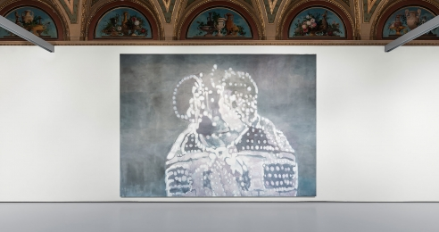 Installation view of the exhibition Luc Tuymans: La Pelle at Installation view, Luc Tuymans: La Pelle at Palazzo Grassi in Venice, 2019.