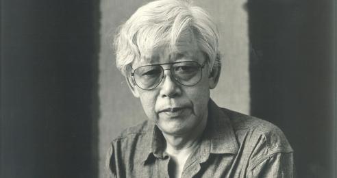 A photograph of the artist, Yun Hyong-keun, dated 1989.
